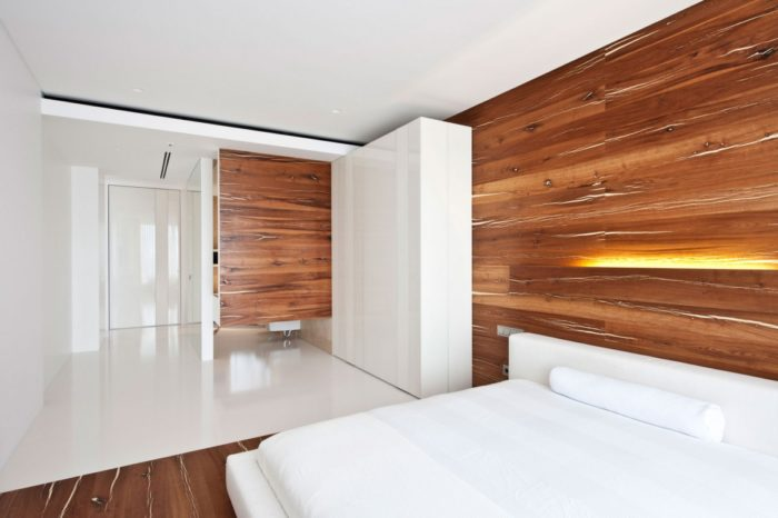 Современный скандинавский минимализм в интерьере спальни