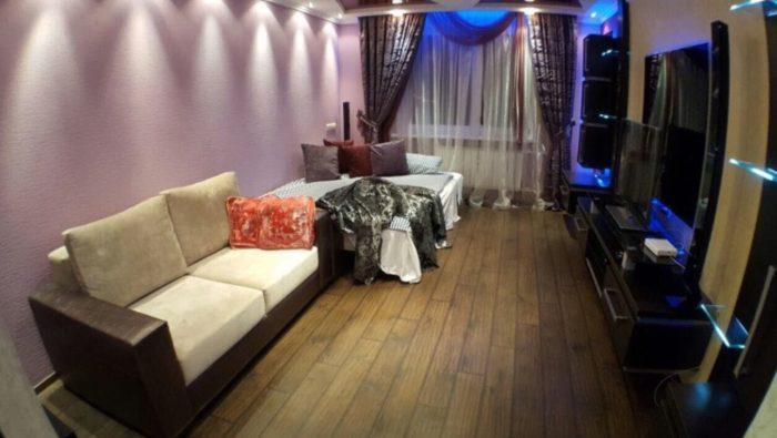 Современный стильный дизайн однокомнатной квартиры