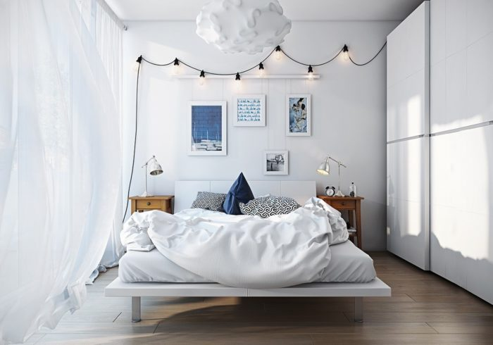 Спальня в скандинавском стиле