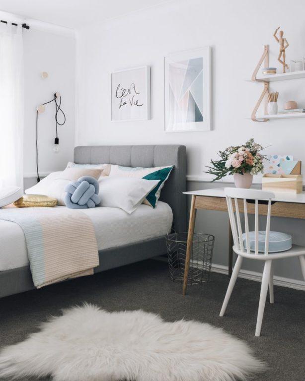 Стильная комната для подростка старшеклассницы