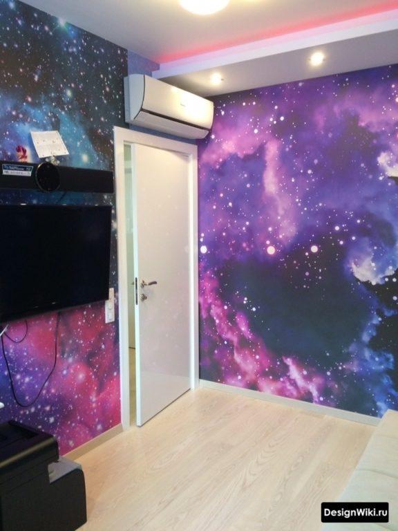 Фотообои космос в комнате для подростка