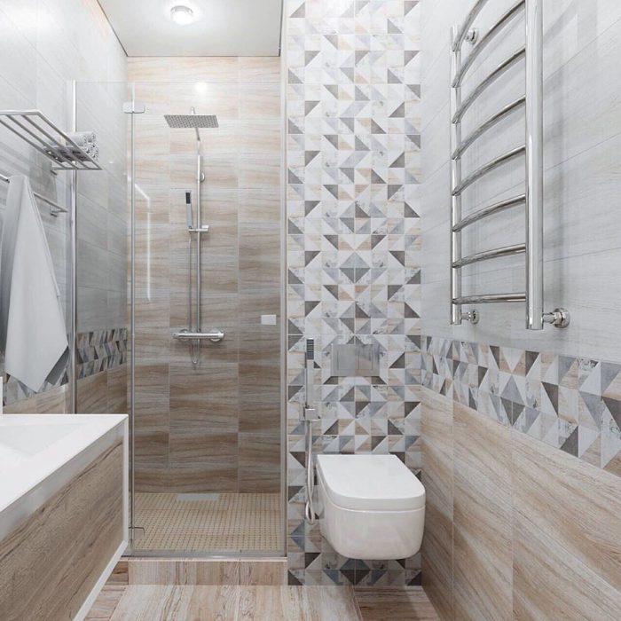 душ с туалетом в скандинавском стиле