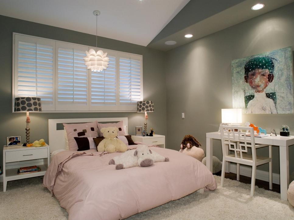 комната для девочки в пастельных цветах