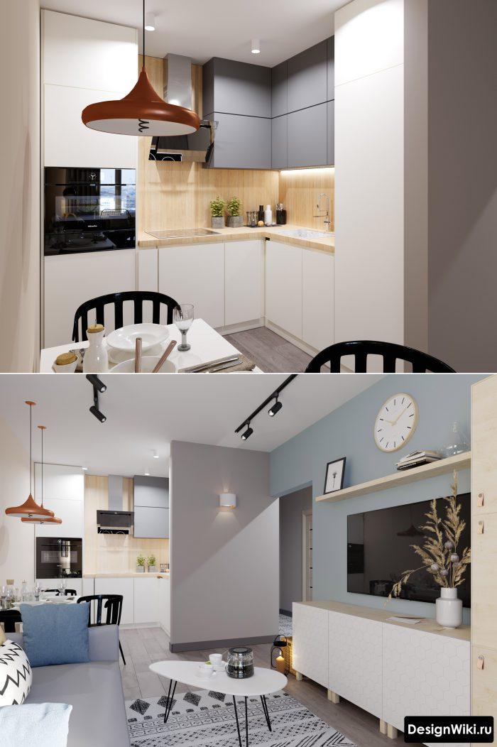 маленькая квартира студия в современном стиле