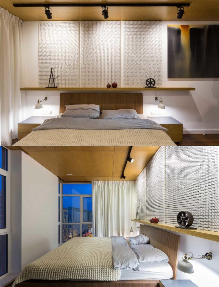 освещение в спальне в скандинавском стиле