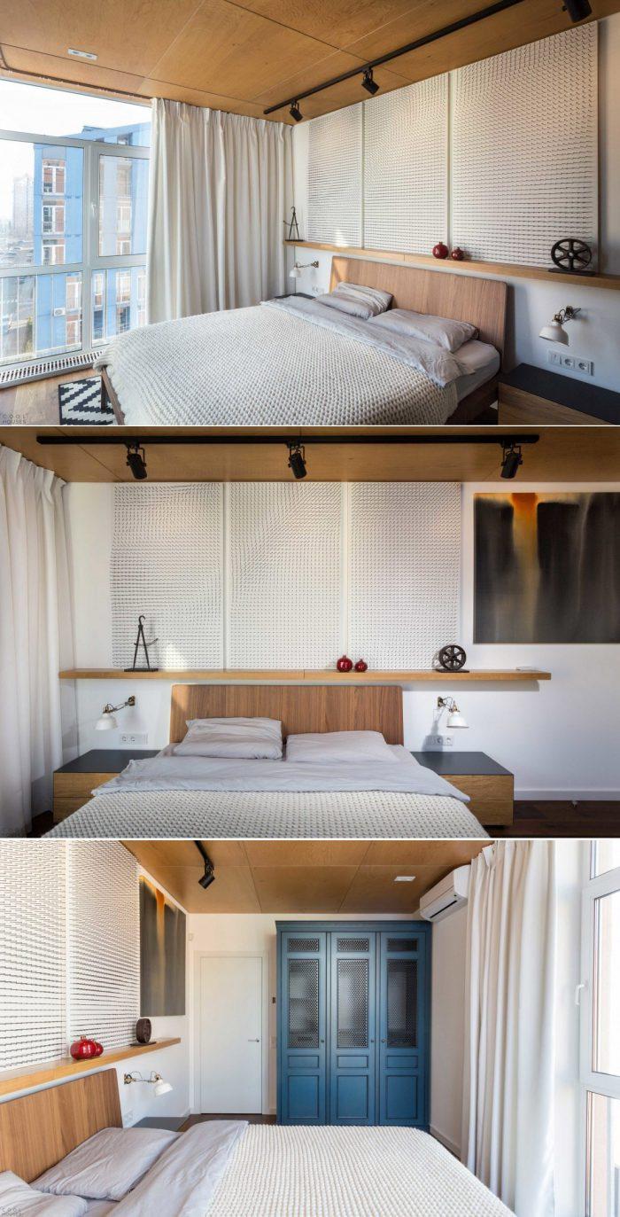 спальня в современном скандинавском стиле