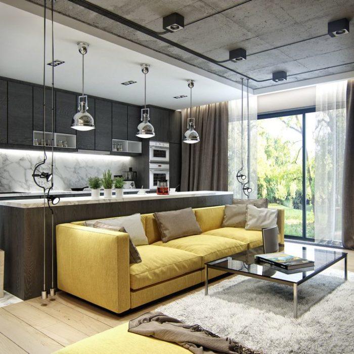 потолок крашеный бетон