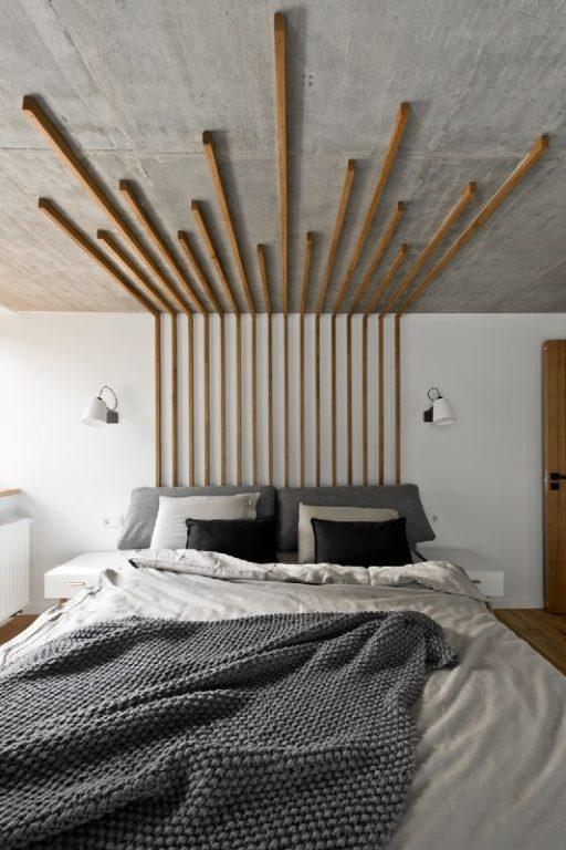 Бруски на потолок и стену в стиле лофт