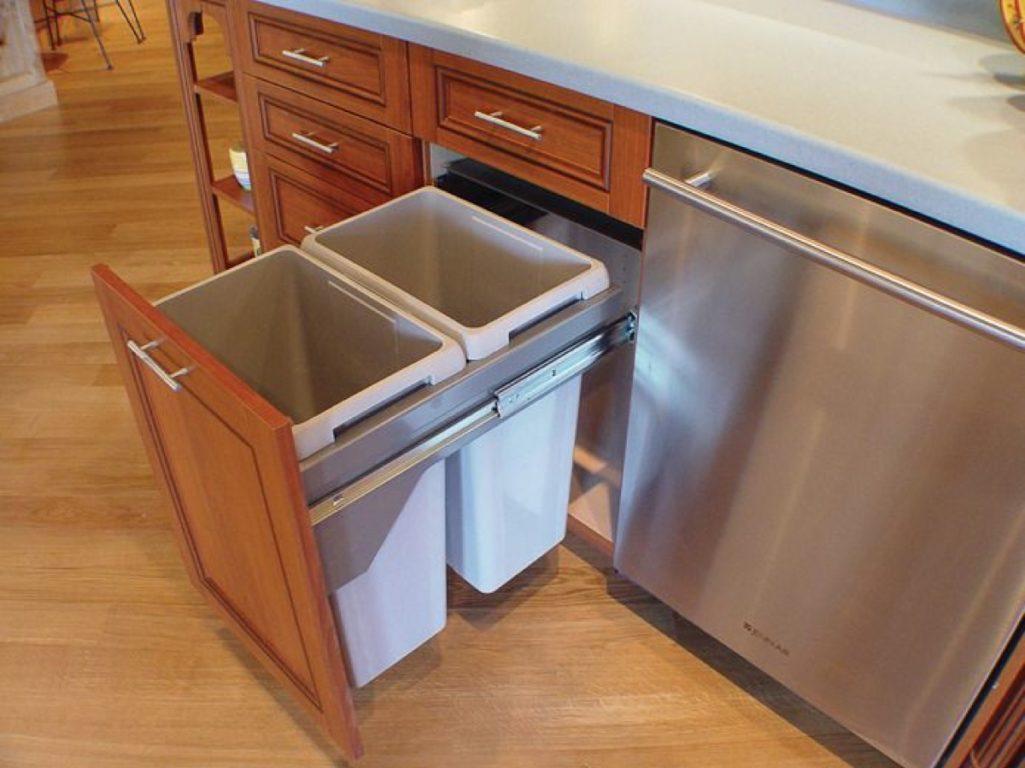 Выдвижные мусорные ведра для кухни