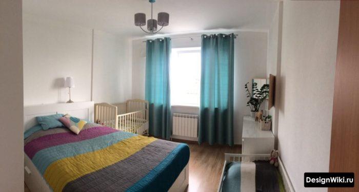 Декор через шторы и постельное белье в спальне и детской