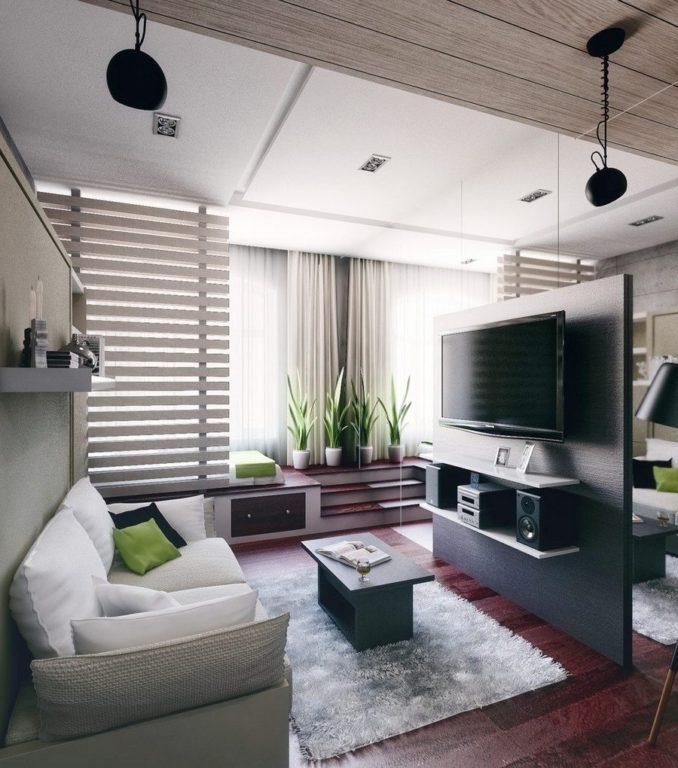 Дизайн в стиле конструктивизм в квартире студии