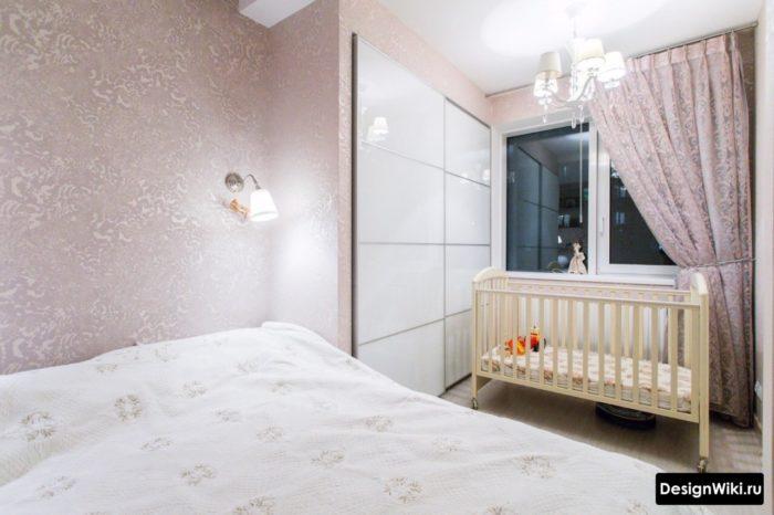 Дизайн в стиле современная классика для спальни и детской в одной комнате
