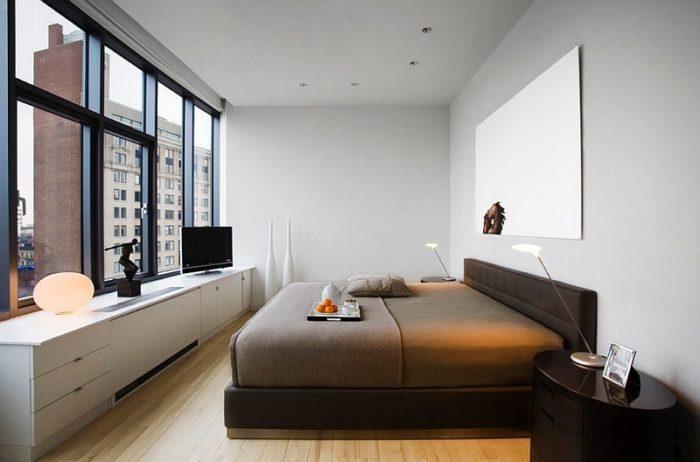 Дизайн интерьера спальни без аксессуаров