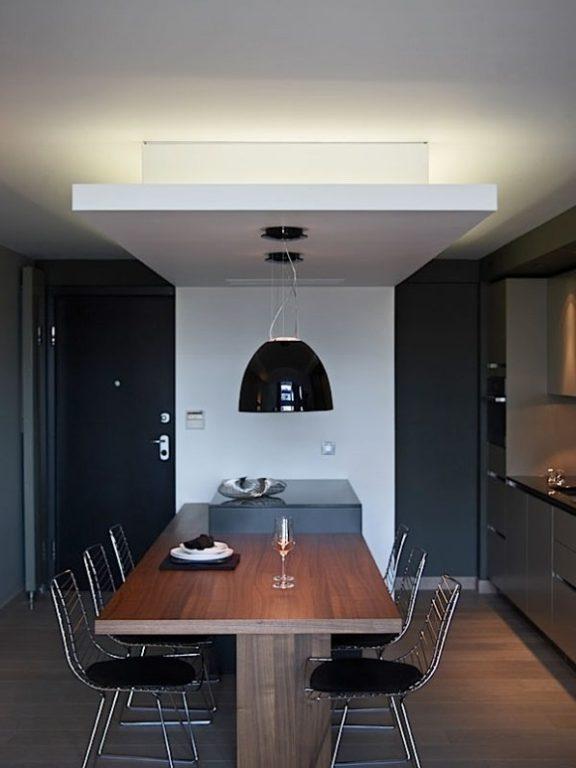 Дизайн кухни-гостиной в стиле конструктивизм