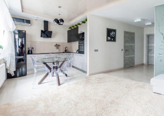 Дизайн кухни гостиной со столовой