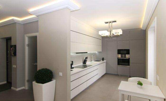 Дизайн кухни до потолка