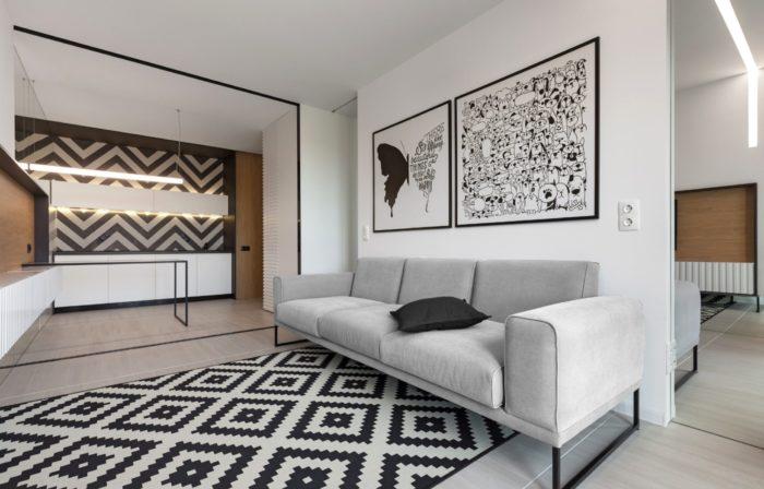 Дизайн маленькой гостиной оптическая иллюзия