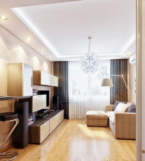 Дизайн мебели в маленькой гостиной