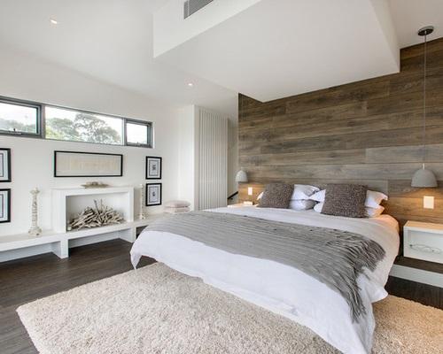 Дизайн потолка для спальни в стиле минимализм