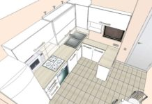 Дизайн проект Г-образной кухни
