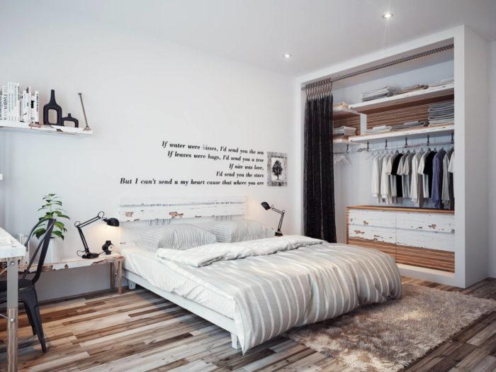 Дизайн современной спальни в стиле минимализм