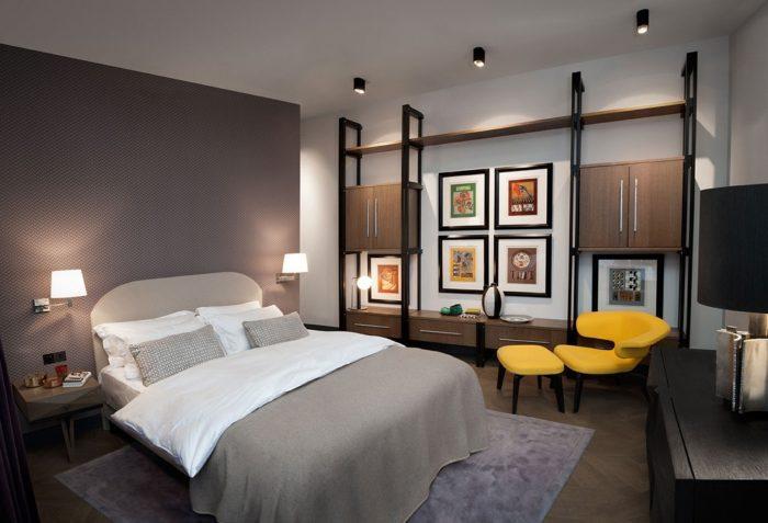 Дизайн спальни в стиле конструктивизм