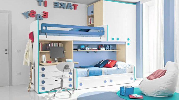 Дизайн спальни и детской в одной комнате