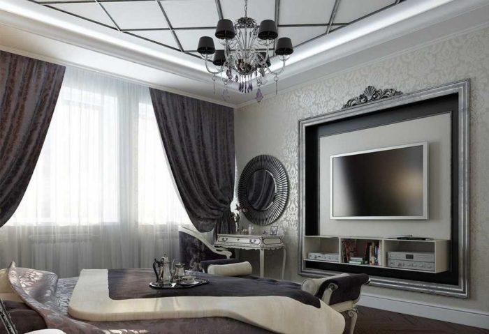 Дорогой дизайн гостиной в стиле Арт-деко