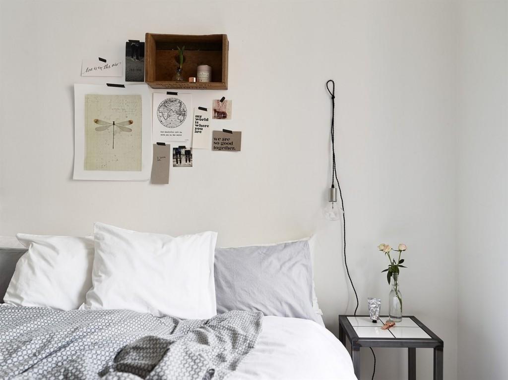 Интерьер модной простой спальни