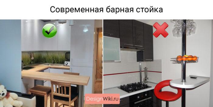Кухни с барной стойкой фото и дизайн
