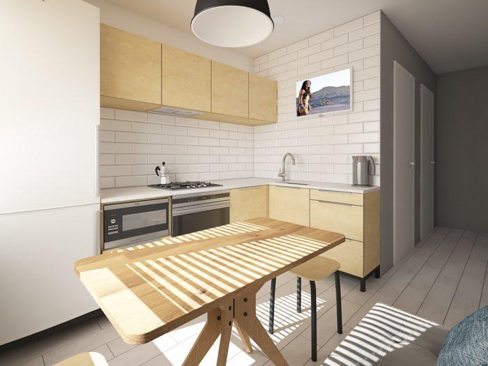 Кухня в стиле скандинавский минимализм