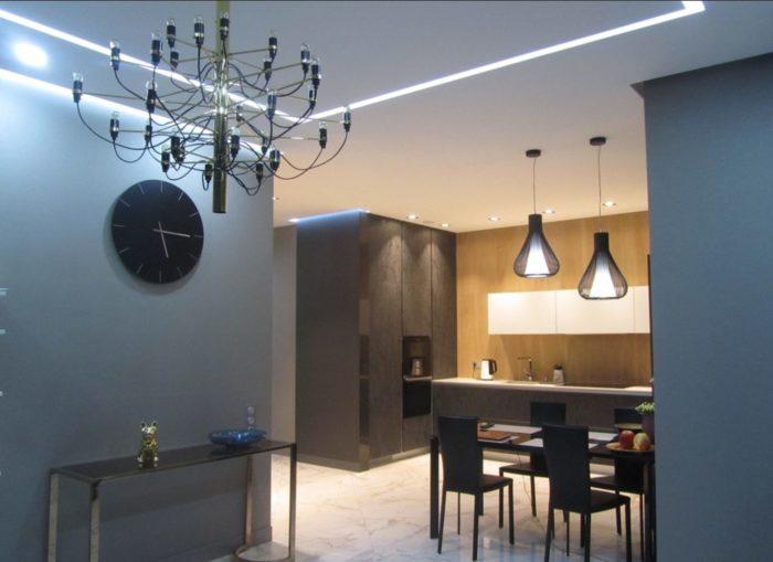 Кухня-гостиная в стиле арт-деко