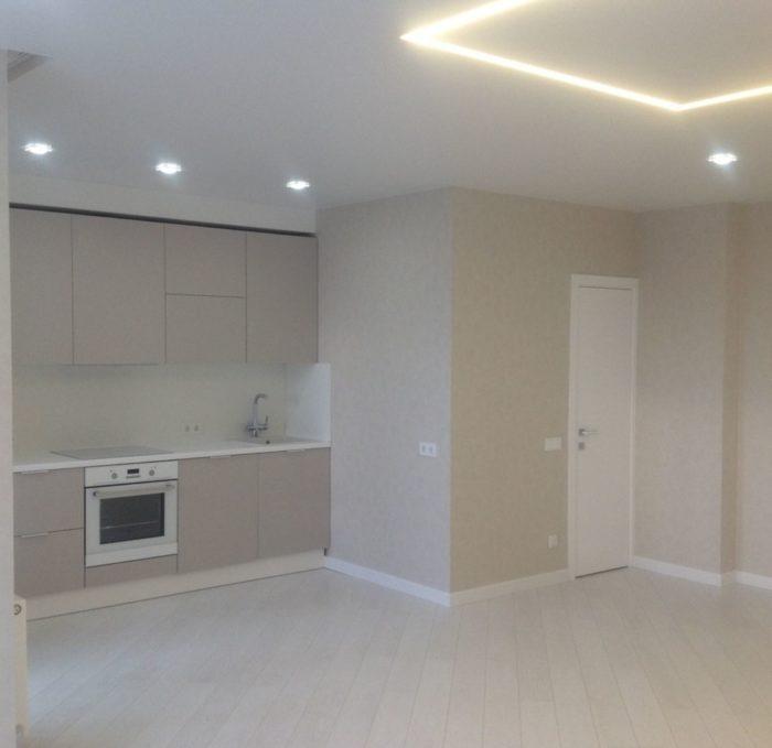 Кухня-гостиная до потолка