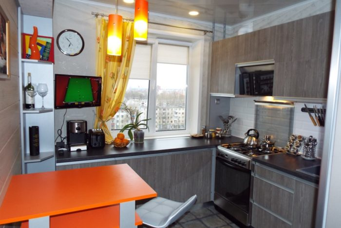 Кухня после самостоятельного планирования