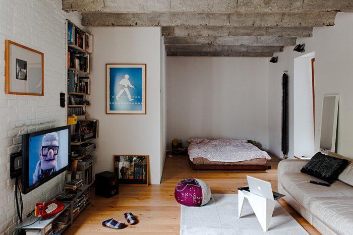 Лофт в небольшой квартире