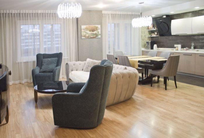Мебель в гостиной-кухне