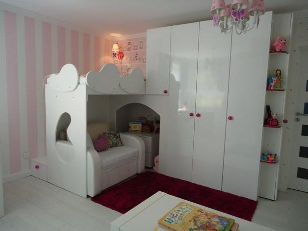Мебель для спальни и детской в одной комнате