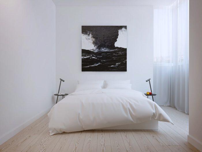 Минималистичная картина над кроватью
