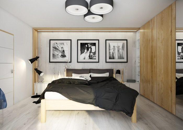 Модная спальня в стиле минимализм