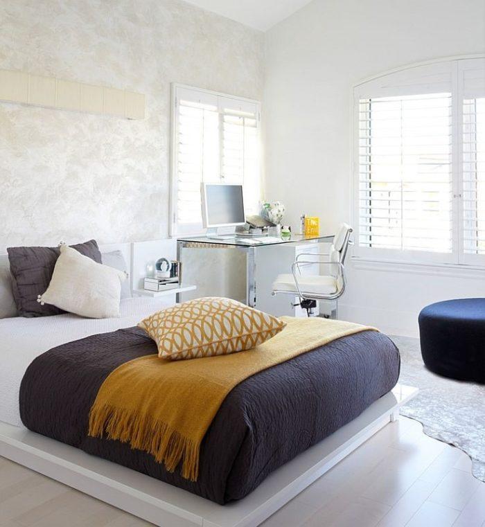 Напольная кровать в стиле минимализм