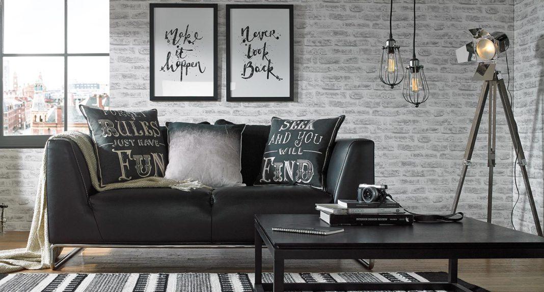 Напольные светильники в стиле лофт в гостиной