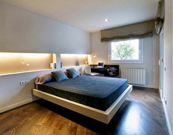 Освещение в спальне минимализм
