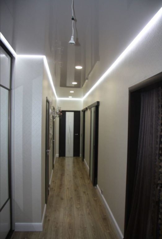 натяжного потолка в коридоре