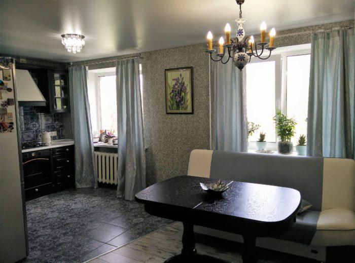 Площадь зоны из плитки на кухне