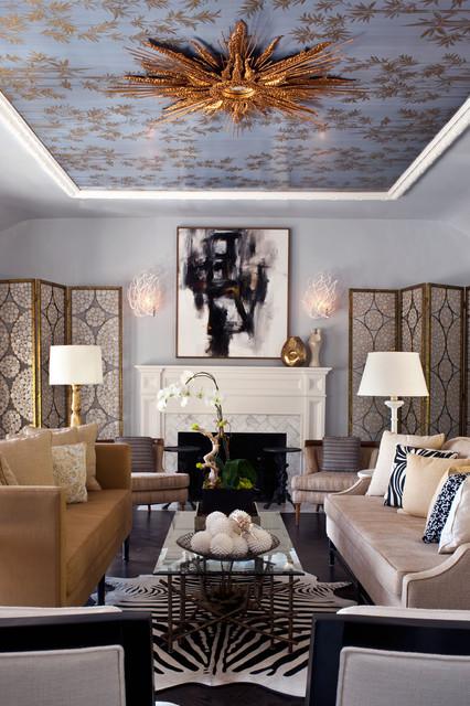 Потолок с фреской арт-деко