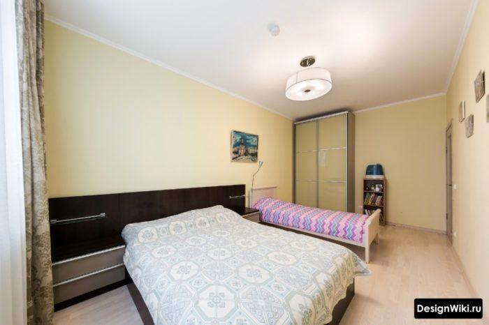Расстановка детской и родительской кроватей в спальне