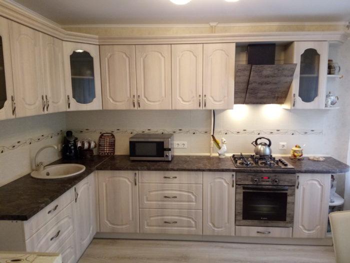 Реализация кухни по проекту с размерами