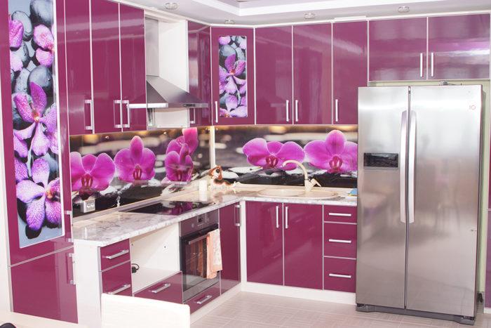 Реальное фото кухни после ремонта по проекту