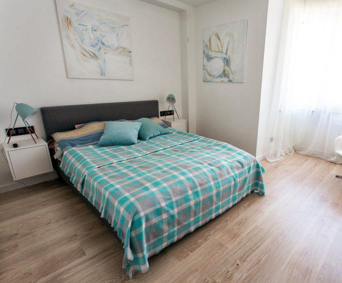 Реальный современный дизайн спальни
