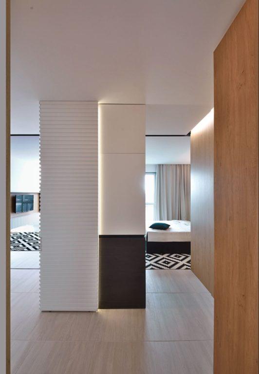 Ровный потолок для стиля хай-тек